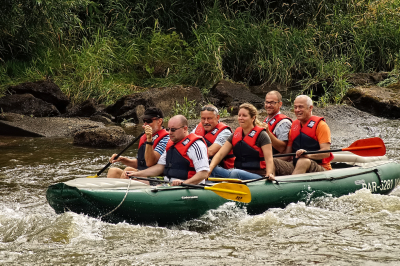 Water sports: the Lusatian Neisse river - Polish and German river attraction